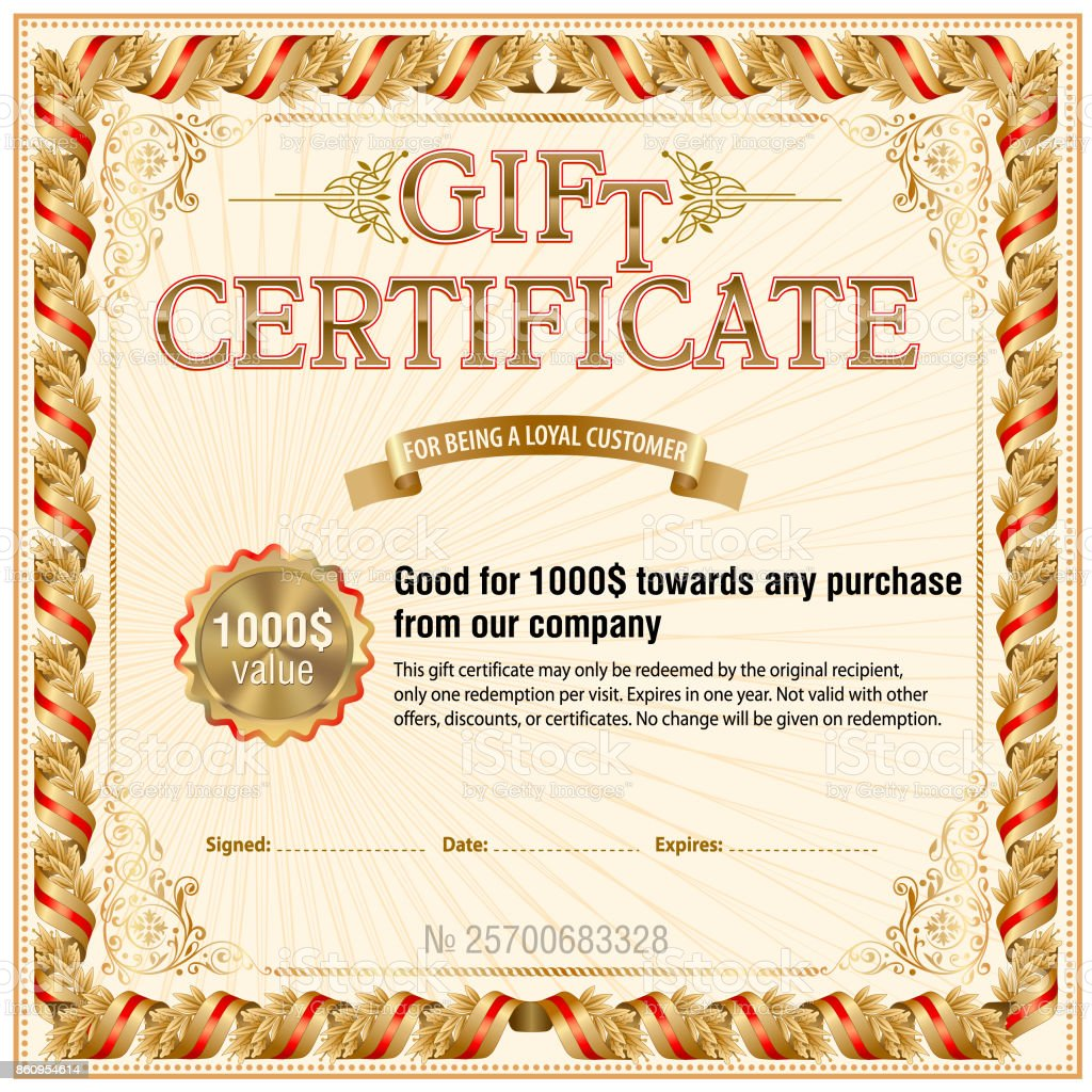 Gift certificate blank template stock vector art more images of gift certificate blank template royalty free gift certificate blank template stock vector art amp yelopaper Images