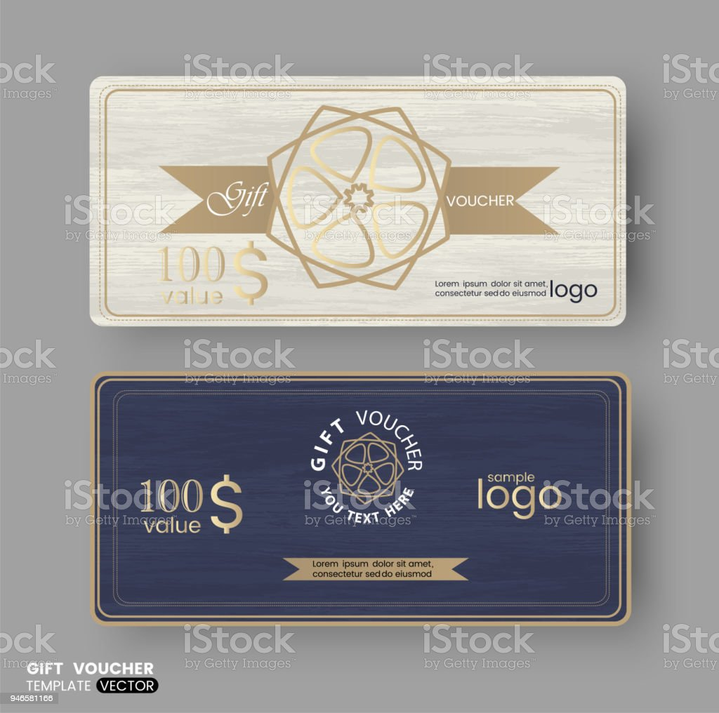 Gift Certificate Voucher Coupon Business Cards Template With Line ...