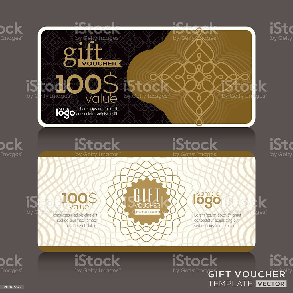 gift certificate voucher coupon template stock vector art more
