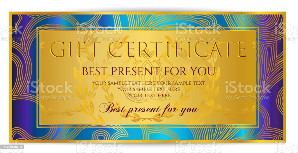 Gift Certificate, Voucher, Coupon Template Royalty-free Gift Certificate  Voucher Coupon Template Stock