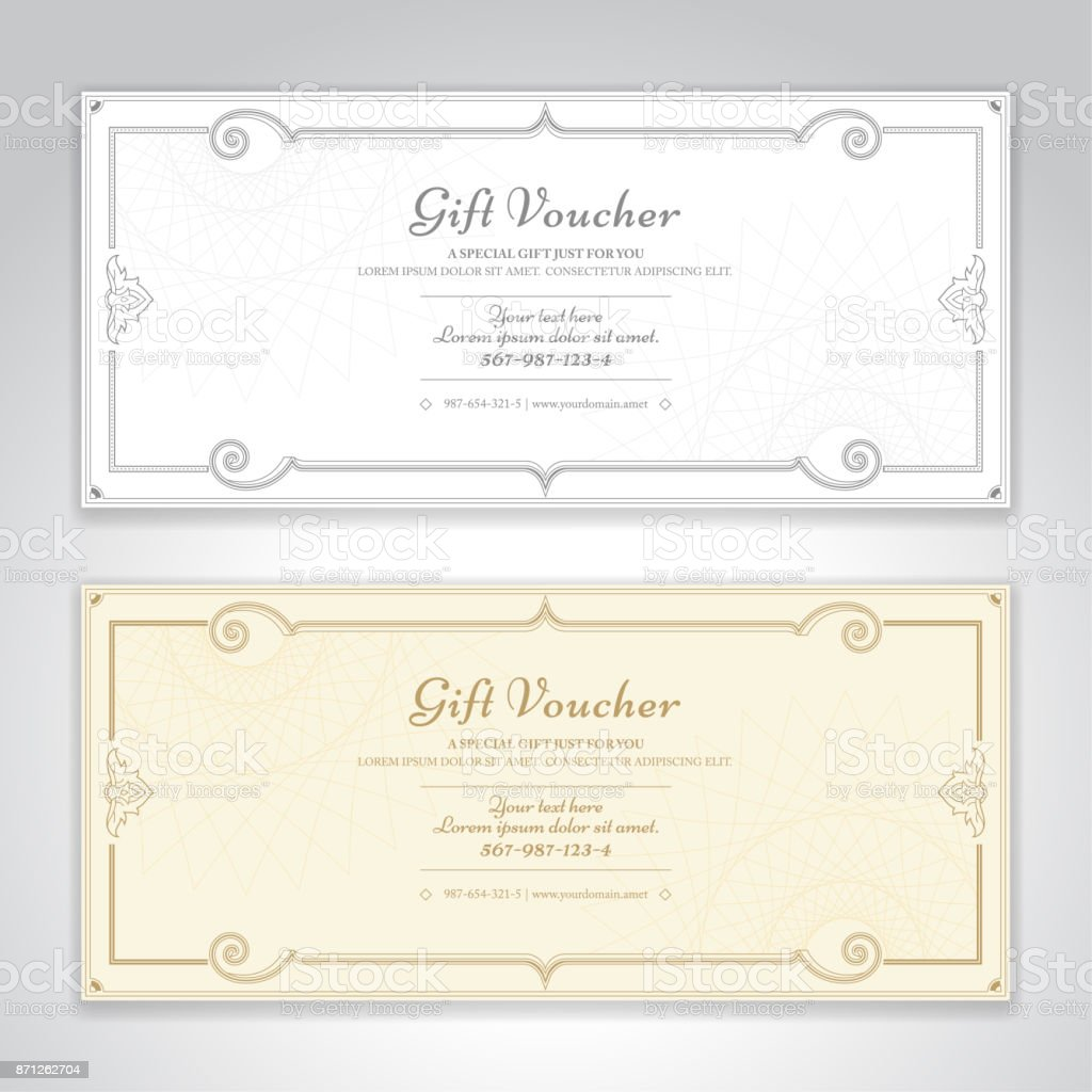Gift Certificate, Voucher, Gift Card Or Cash Coupon Template In Vector  Format Royalty   Coupon Format