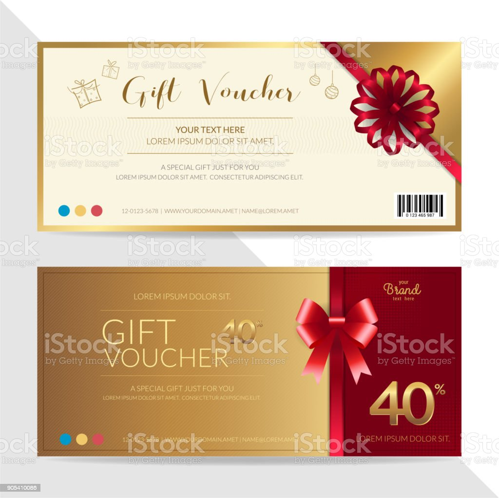 gift certificate voucher gift card or cash coupon template in vector