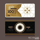 A gift certificate voucher template