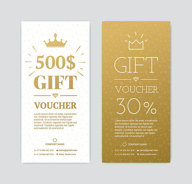 gift certificate with gifts - tickets and vouchers templates stock illustrations
