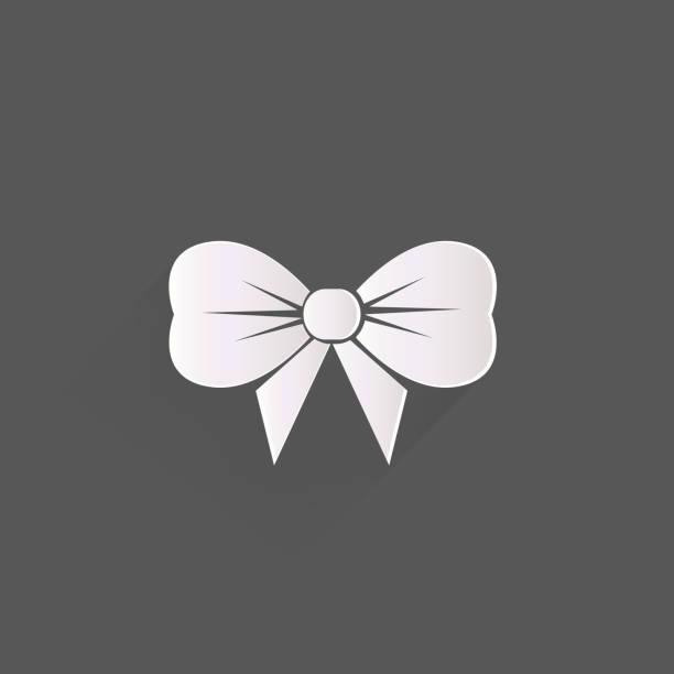 Gift, Christmas bow web icon vector art illustration