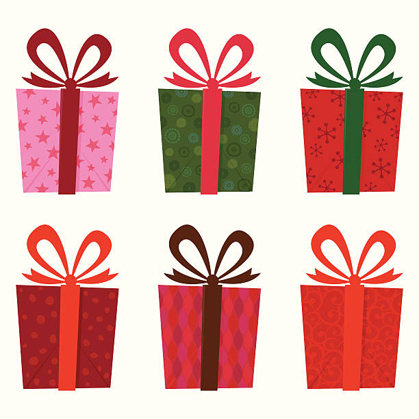 Gift collection vector art illustration