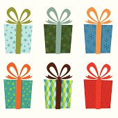 Gift collection, isolated in white background.