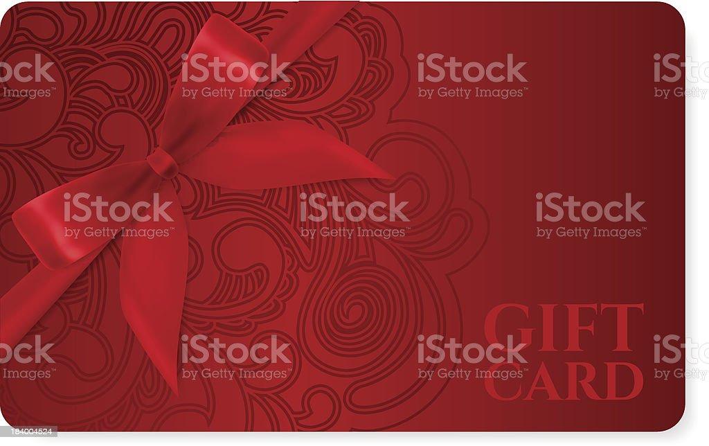 Carta Regalo Coupon Sconti Biglietto Motivo Filigrana Rosso