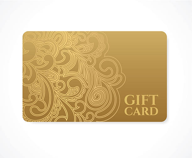 gift coupon, discount card, ticket. gold floral (scroll) pattern frame - tickets and vouchers templates stock illustrations