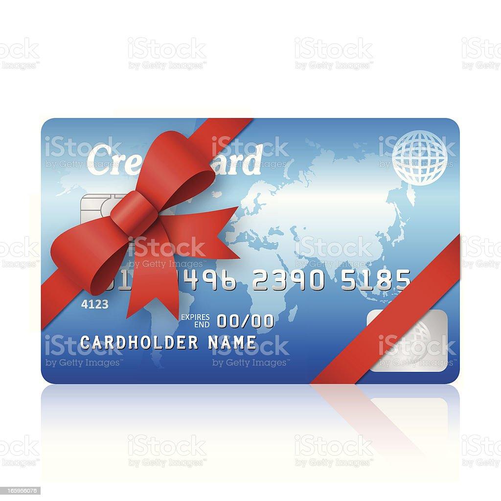 Gift credit card royalty-free stock vector art