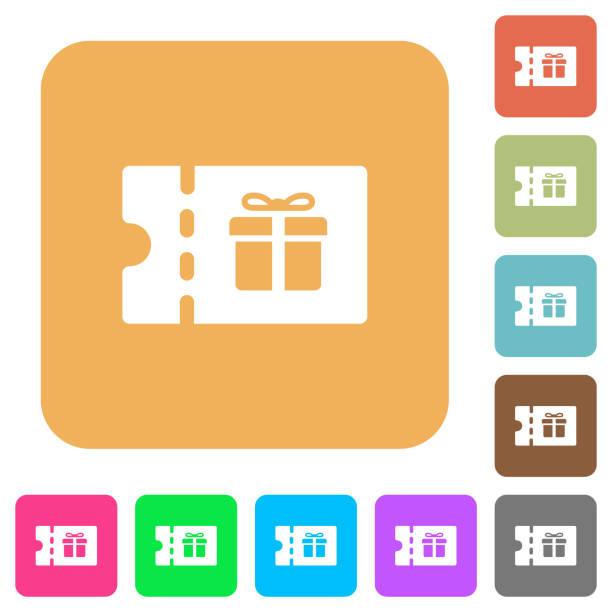 rabattgutschein abgerundet quadratisch flach symbole - swag stock-grafiken, -clipart, -cartoons und -symbole