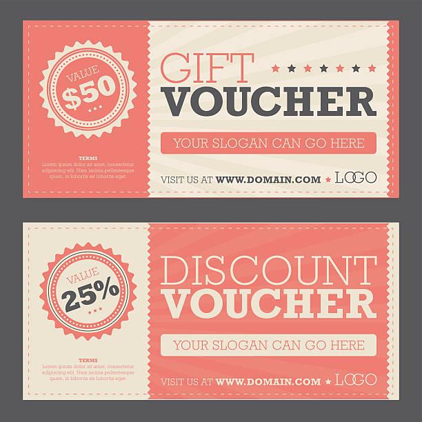 illustrazioni stock, clip art, cartoni animati e icone di tendenza di regalo & voucher di sconto - coupon