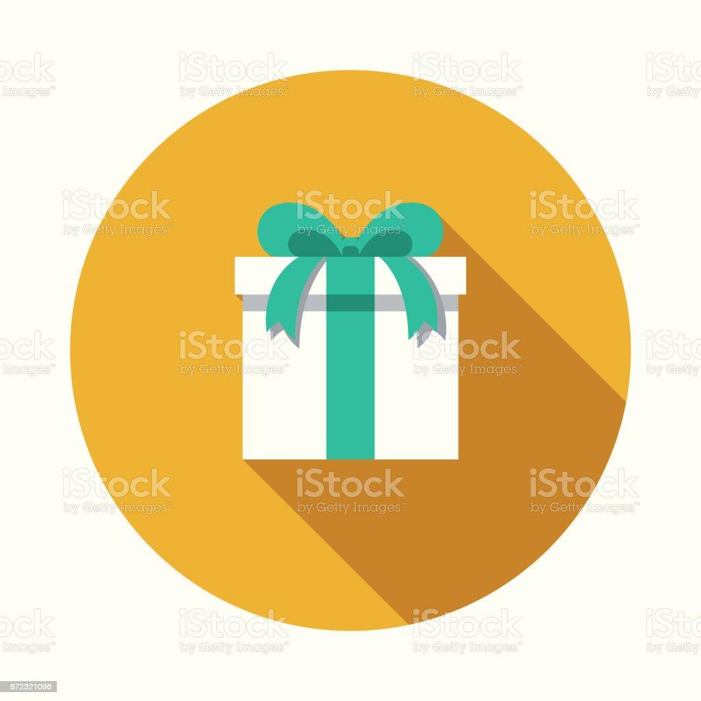 Gift Flat Design Party Icon with Side Shadow - Grafika wektorowa royalty-free (Bez ludzi)