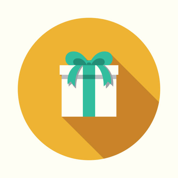 gift flat design party icon with side shadow - gift stock illustrations