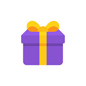 Gift Flat Icon. Pixel Perfect. For Mobile and Web.
