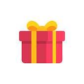 Gift Flat Icon.