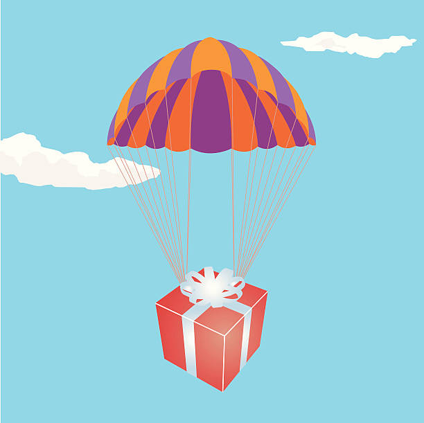 Geschenk von oben – Vektorgrafik