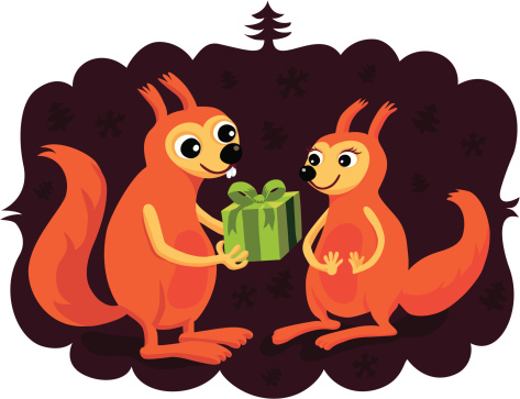 Gift Giving Squirrels