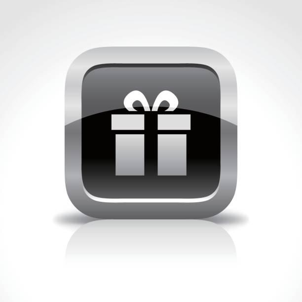 ギフトの光沢のあるボタンのアイコン - 勤労感謝の日点のイラスト素材/クリップアート素材/マンガ素材/アイコン素材