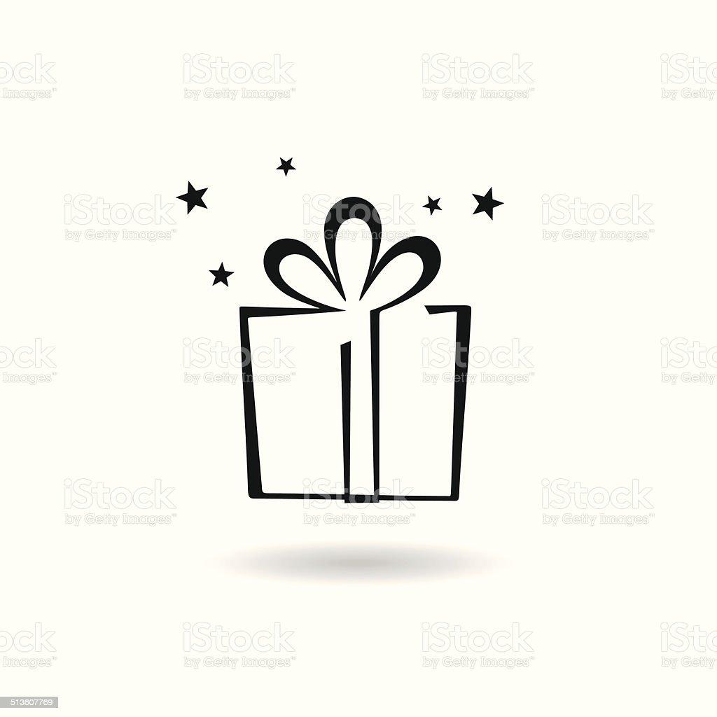 Gift icon vector art illustration