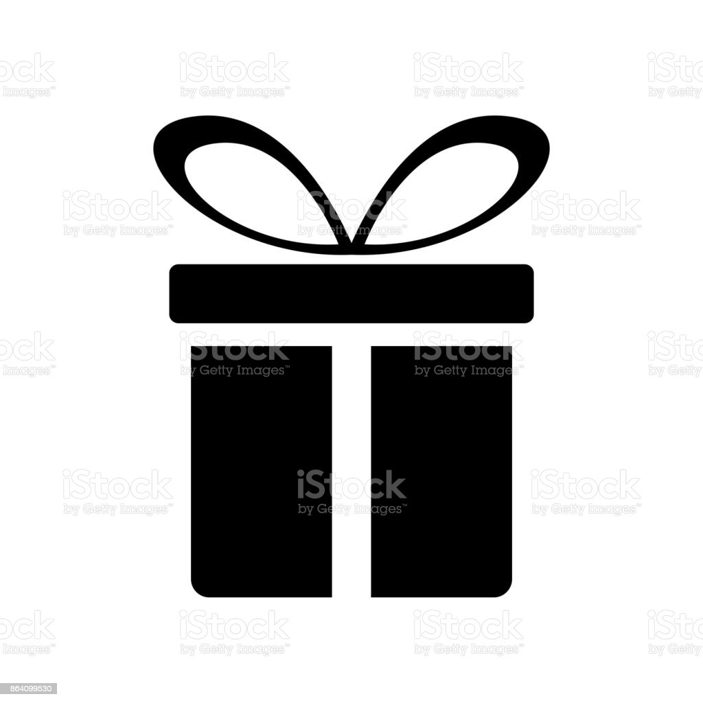 gift icon vector royalty-free gift icon vector stock vector art & more images of abstract