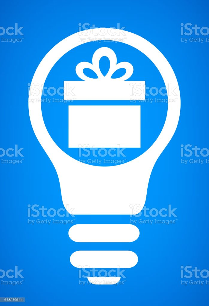Gift Ideas Light bulb Conceptual Vector Illustration royalty-free gift ideas light bulb conceptual vector illustration stock vector art & more images of backgrounds
