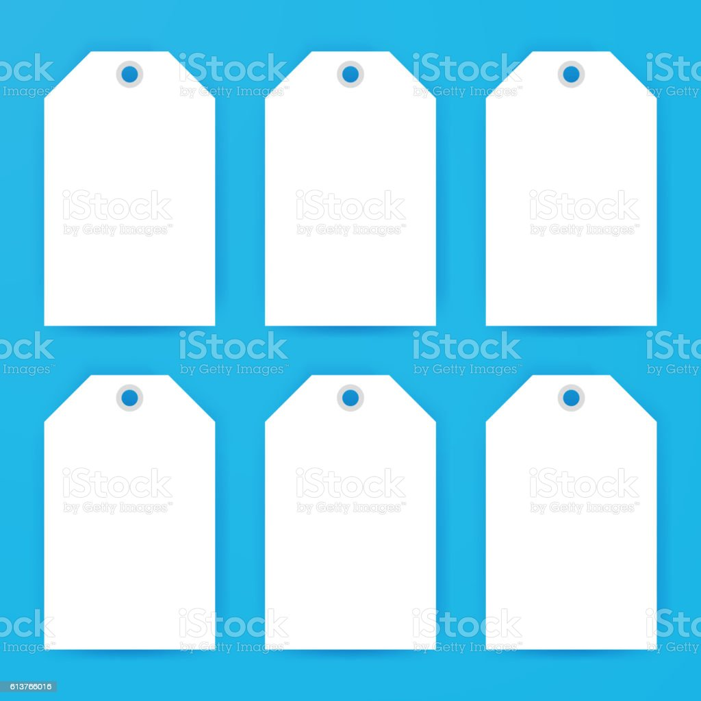 Gift Labels Empty Mockup vector art illustration