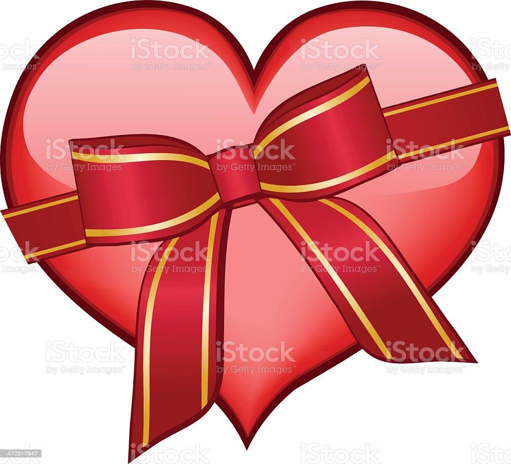 Gift of Love royalty-free stock vector art