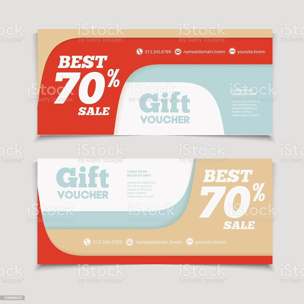 Gift or discount voucher template with modern design stock vector gift or discount voucher template with modern design royalty free stock vector art xflitez Image collections