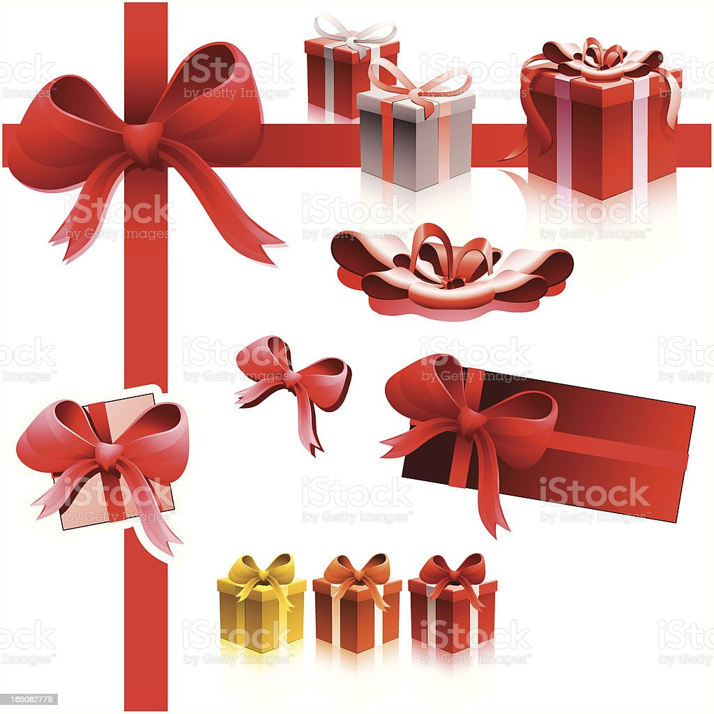 Gift & Presents Equipment RED royalty-free stock vector art