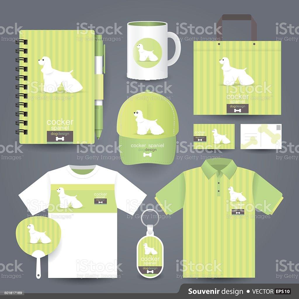 Gift Set Design. vector art illustration