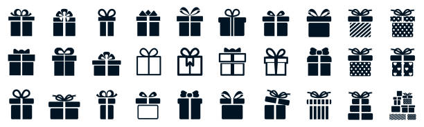 Gift set different icon, collection gift signs - stock vector Gift set different icon, collection gift signs - stock vector annotation stock illustrations