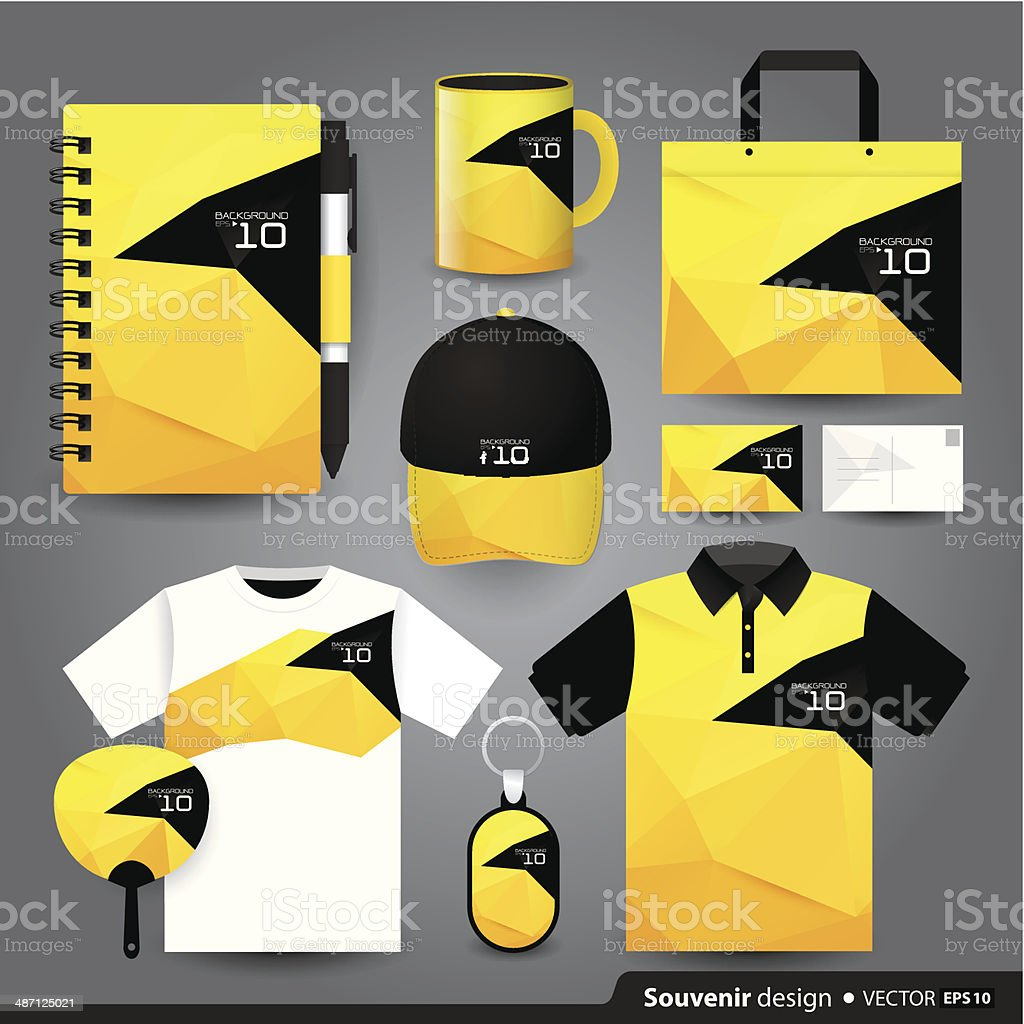 Gift set template, Corporate identity design. vector art illustration