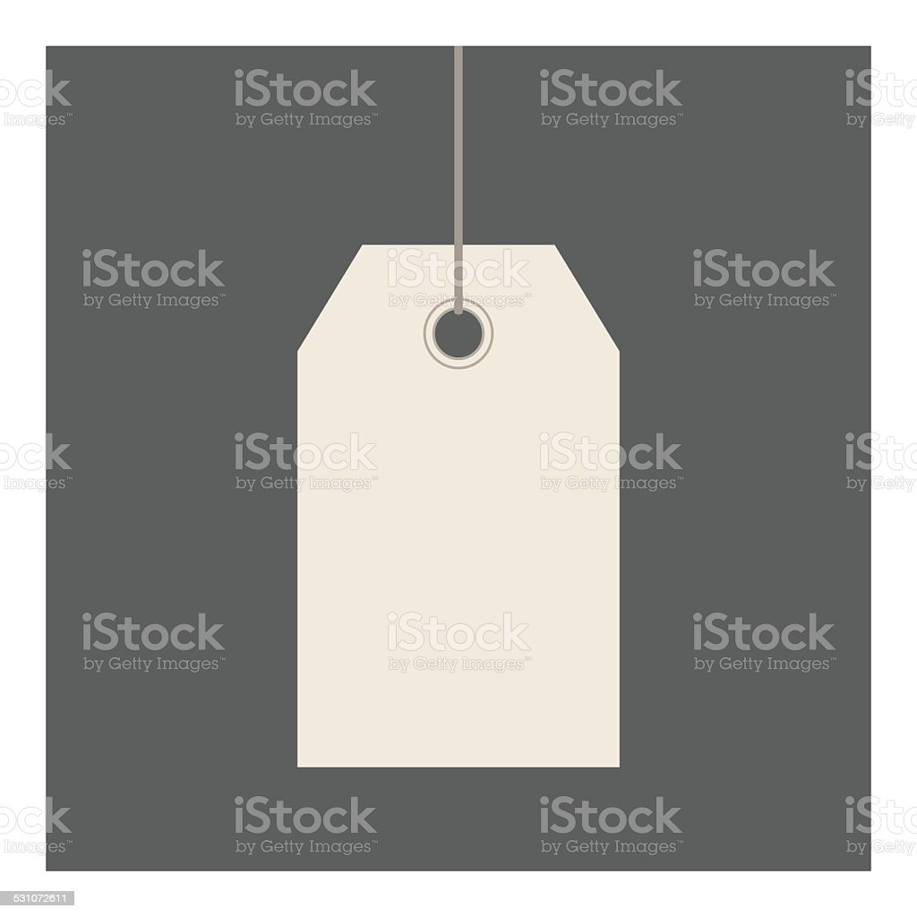 Gift Tag vector art illustration