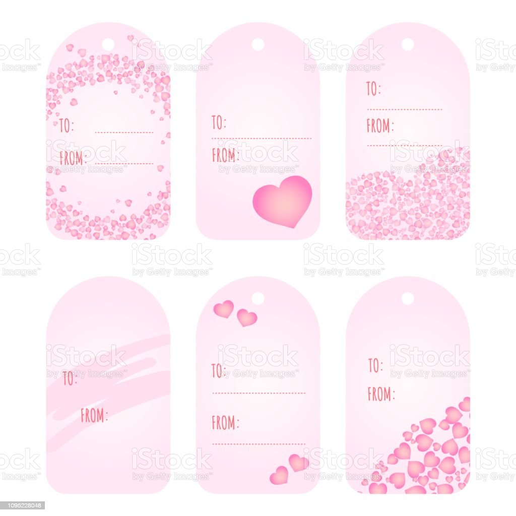 picture relating to Cute Gift Tags Printable called Reward Tags Labels Template Valentines Working day Printable Tags