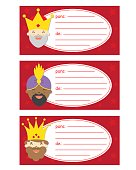 Gift tags of the three orient kings
