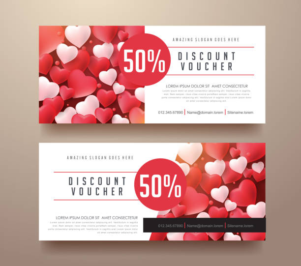 gift voucher 97 - coupon stock illustrations, clip art, cartoons, & icons