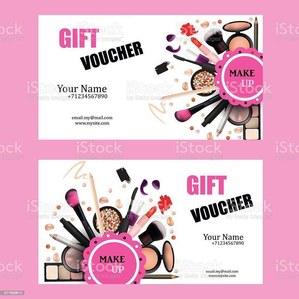 Elegant Gift Voucher Card Design Set. Royalty Free Stock Vector Art  Make Voucher