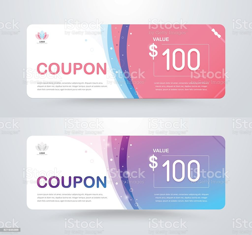 gift voucher card template design for special time vector
