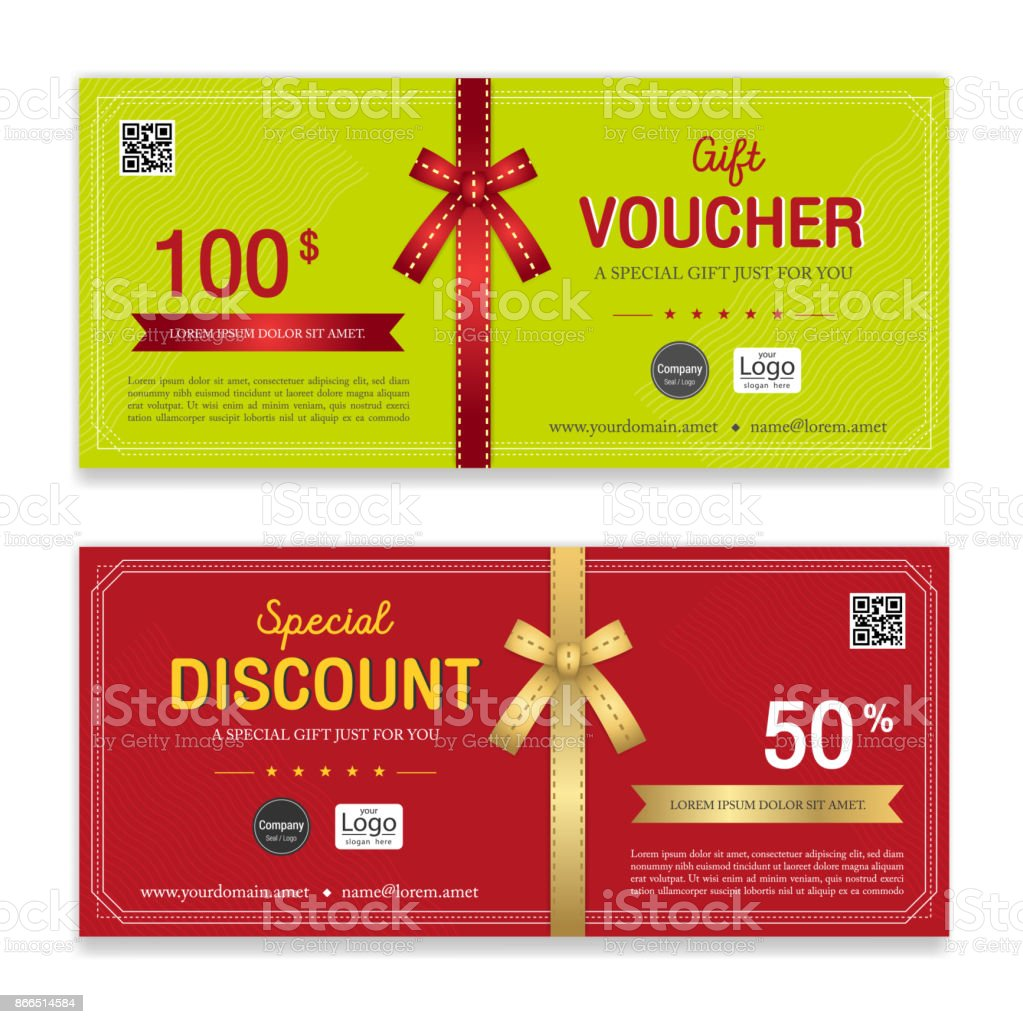 Gift Voucher Certificate Or Discount Card Template For Promo ...