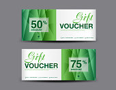 Gift Voucher, coupon design,ticket, banner, cards, polygon background