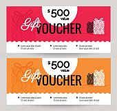 Gift Voucher Coupon discount.