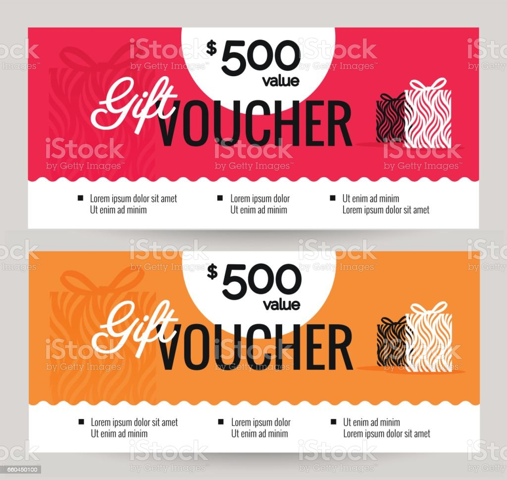 Gift Voucher Coupon de réduction. - Illustration vectorielle