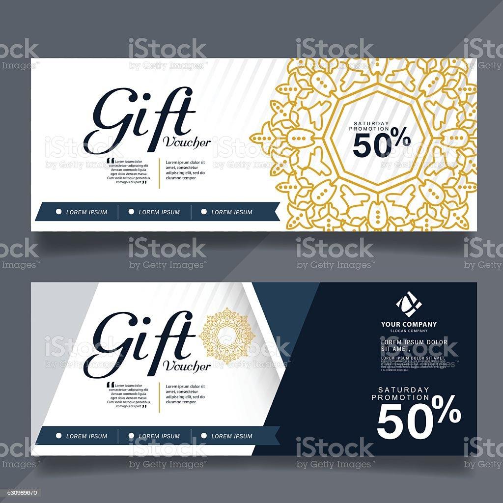 Gift Voucher Design Vector Template Stock Vector Art ...