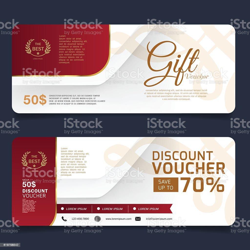 Gift Voucher Design Vector Template Royalty Free Gift Voucher Design Vector  Template Stock Vector Art  Discount Voucher Design