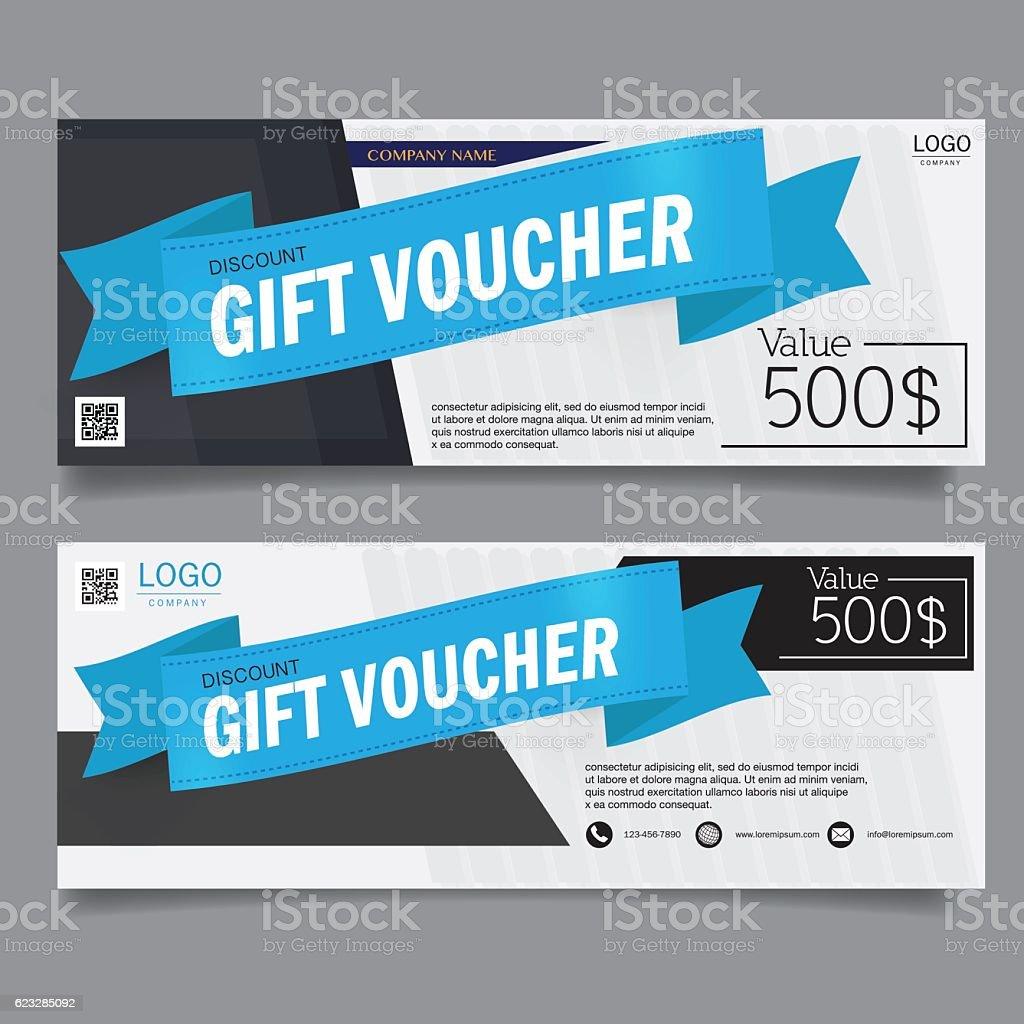 Gift Voucher Design Vector Template stock vector art 623285092 – Discount Voucher Design