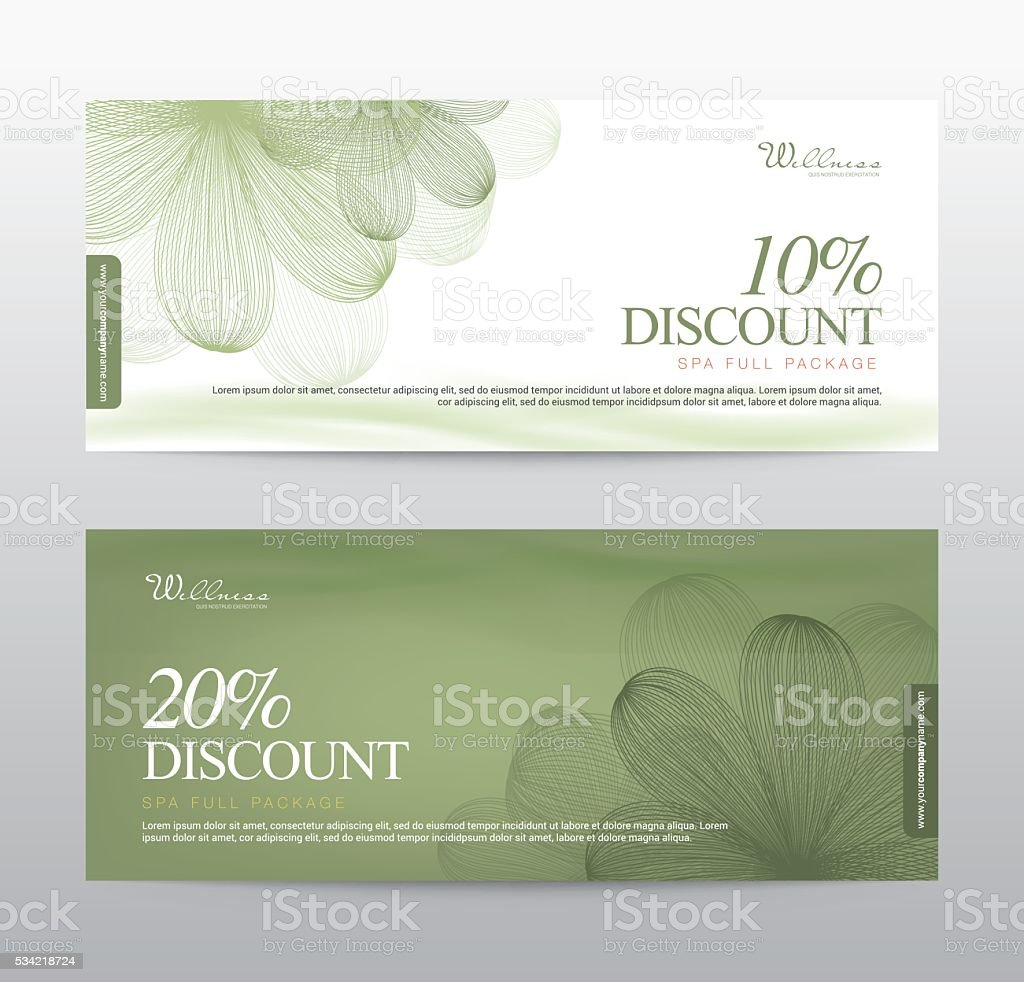 Gift voucher flower spa yoga background banner template vector gift voucher flower spa yoga background banner template vector royalty free gift voucher yadclub Choice Image