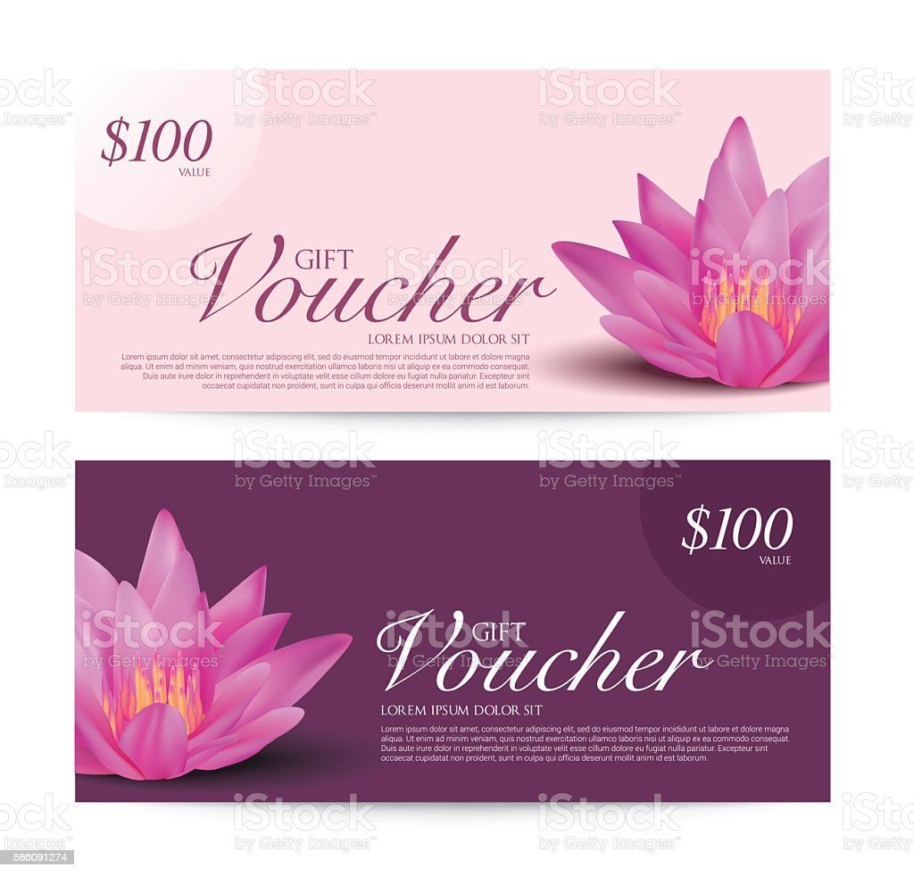 gift voucher flower spa yoga background banner template vector royalty free gift voucher