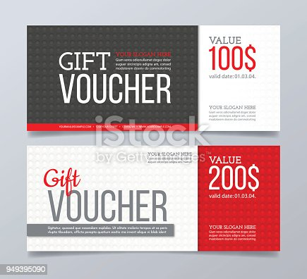 Gift Voucher Template Design And Abstract Geometric Background Stock ...