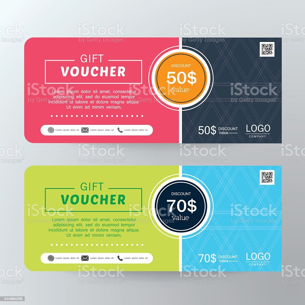 Koala Art And Design Discount Code : Gift voucher template design concept for coupon stock